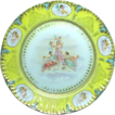 Large Three Graces & Cherubs Cabinet Plate -  Austrian Porcelain, c.1900