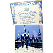 SALE Blue Delft Christmas Tile - Genuine w/Original Box, c.1970