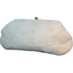 Rhinestone Clasped Evening Clutch - Vintage Glass Pearlized Floral Design Bag