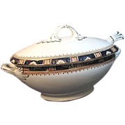 c.1907 English Sauce Tureen  by Enoch Wood & Sons in the Windsor Pattern