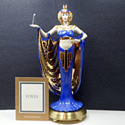Franklin Mint Egyptian 24 K Gold Hand Painted Porcelain Sculpture Power w/ COA