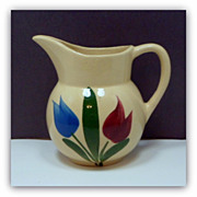 Original WATT Pottery Tulip Creamer # 62 Yellow Ware