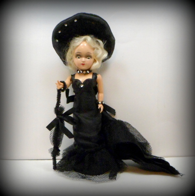 Vintage Hard Plastic Mae West Doll 1950s Virga Doll