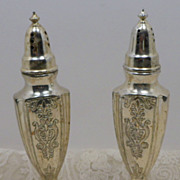 SALE Vintage Silver Plate Shakers NASCO Japan Salt Pepper 1950s