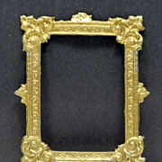 Vintage Metal Doll House Miniature Gilt Picture Frame