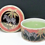 Andrea Sadek Jungle Safari Zebra Candle Box Siddhia Japan
