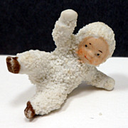 Vintage German Bisque Snow Baby Tumbler Action Figurine