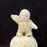 Vintage Bisque Snow Baby Snowball Figurine Japan