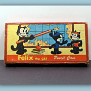 SOLD Vintage 1930s Felix The Cat Pencil Case