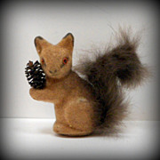 SOLD Wagner Kunstlerschutz Squirrel Handwork German Toy Figure