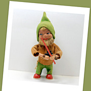 Vintage Max Carl Wind Up Gnome Hunter MC Original Western Germany