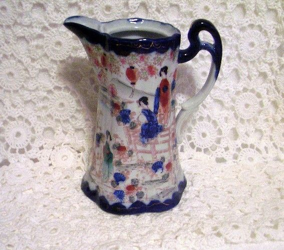 Gorgeous Nippon Oriental Cobalt Design Pitcher
