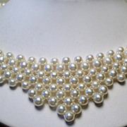 REDUCED Vintage Faux Pearl Bead Necklace