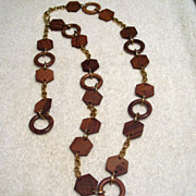 SALE Vintage Wooden Belt-Necklace