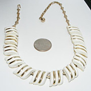 REDUCED Vintage White Thermoset Necklace