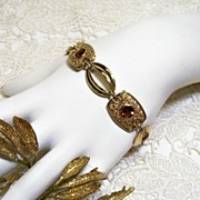 SALE Sarah Coventry *Butterscotch* Gold-tone Rhinestone Bracelet