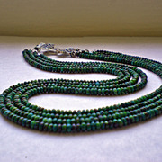 SOLD Chrysocolla Gemstone Necklace