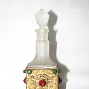 Jeweled Ormolu Perfume Bottle