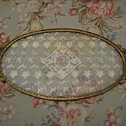 Jeweled Oval Perfume/Dresser Tray