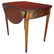 Vintage 1930's Mahogany Drop Leaf  Side Table with Drawer!