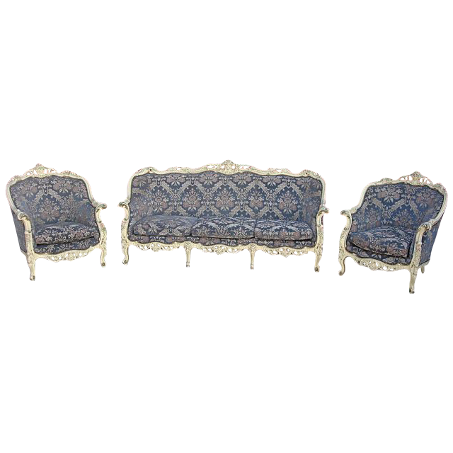 Antique Furniture Antique Sofa Antique Couch and Two Chairs Shabby Chic!