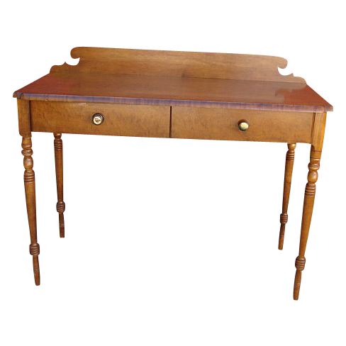 Handsome Vintage Hitchcock Writing Desk  Console with Drawers!