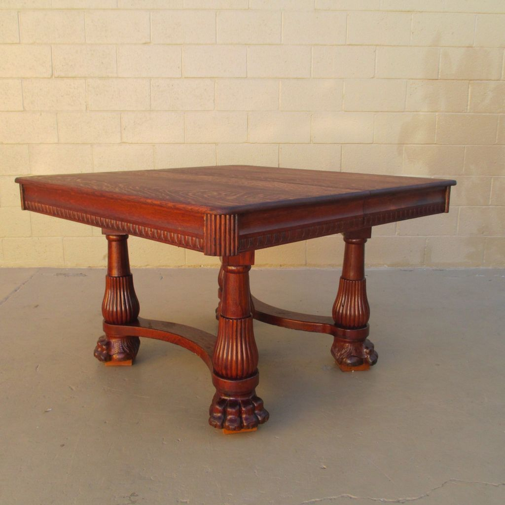 Claw Foot Table | Vintage Antique Furniture