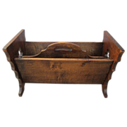 French Antique Rustic Arts & Crafts Magazine Holder!