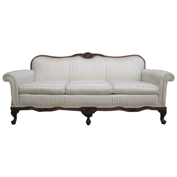 Beautiful 1920's Carved Mahogany Sofa!
