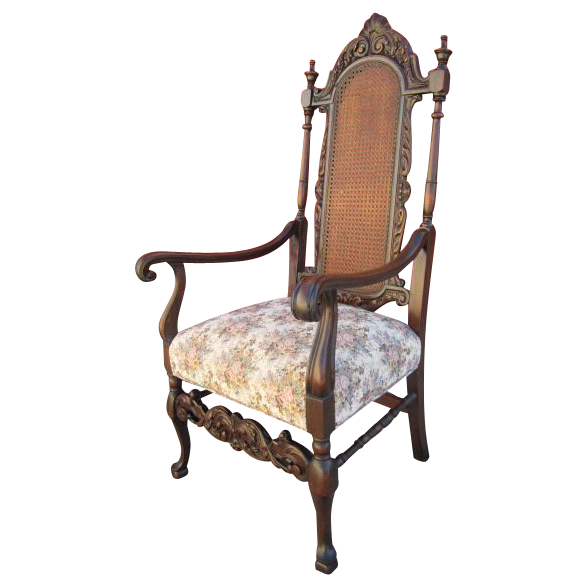 tall cane back chair images