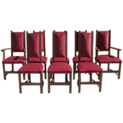 French Antique Arts & Crafts Dining Chairs Antique Furniture