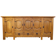 Spanish  Antique Sideboard  Cabinet Arts and Crafts Mission Antique Furniture
