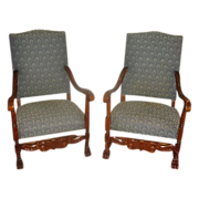 Pair of French Antique Chairs Armchairs Antique Furniture