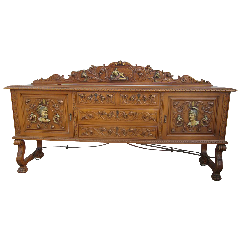 Buy antique sideboards and buffets - Spanish Antique Sideboard Polychrome Buffet Antique Furniture