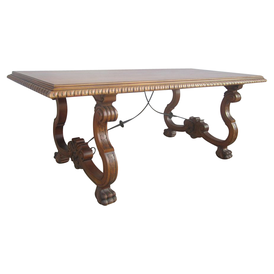 Spanish Antique Dining Table Library Table Antique Furniture from