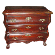 Antique Furniture Dutch Antique  Bombe Chest Night Stand Side Table