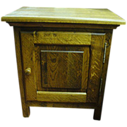 French Antique Rustic Arts & Crafts Oak End Table Accent Table!
