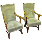 French Antique Arts & Crafts Chairs Armchairs Antique Furniture