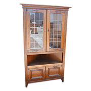 Antique Furniture French Rustic Antique Corner Cabinet!