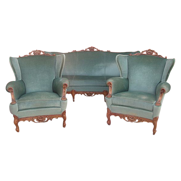 Antique Furniture French Antique Sofa Couch and Two Chairs Armchairs!