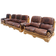 Spanish Sofa, Loveseat, and Chair Rustic Arts and Crafts Mission Antique Furniture!