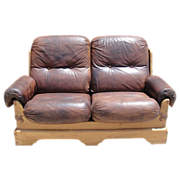 Antique Furniture Spanish Antique Leather Sofa Arts and Crafts Mission!