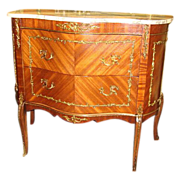Antique Furniture Beautiful Walnut Bombe' Chest Commode Chest of Drawers!