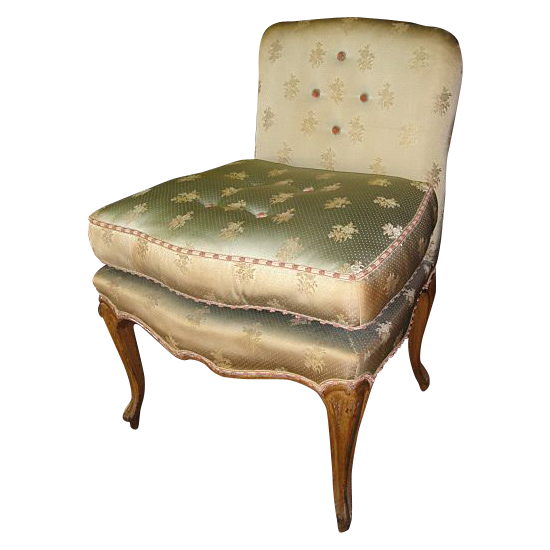 Antique Furniture French Antique Vanity Chair Accent Chair Boudoir