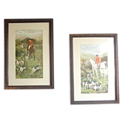 Vintage English Hunt Scenes Vintage Art