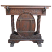 Spanish Antique Bar with Iron Antique Furniture