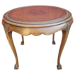 French Antique Country French Round Side Table Accent Table
