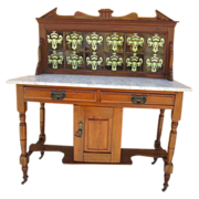 English Antique Marble Top Washstand Antique Furniture