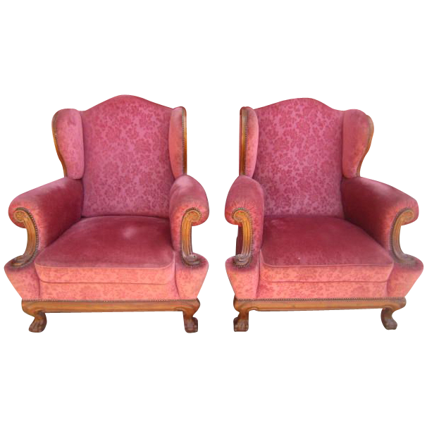 French antique wing back chippendale chairs armchairs antique from