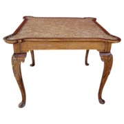 Antique Leather Top Game Table Antique Furniture